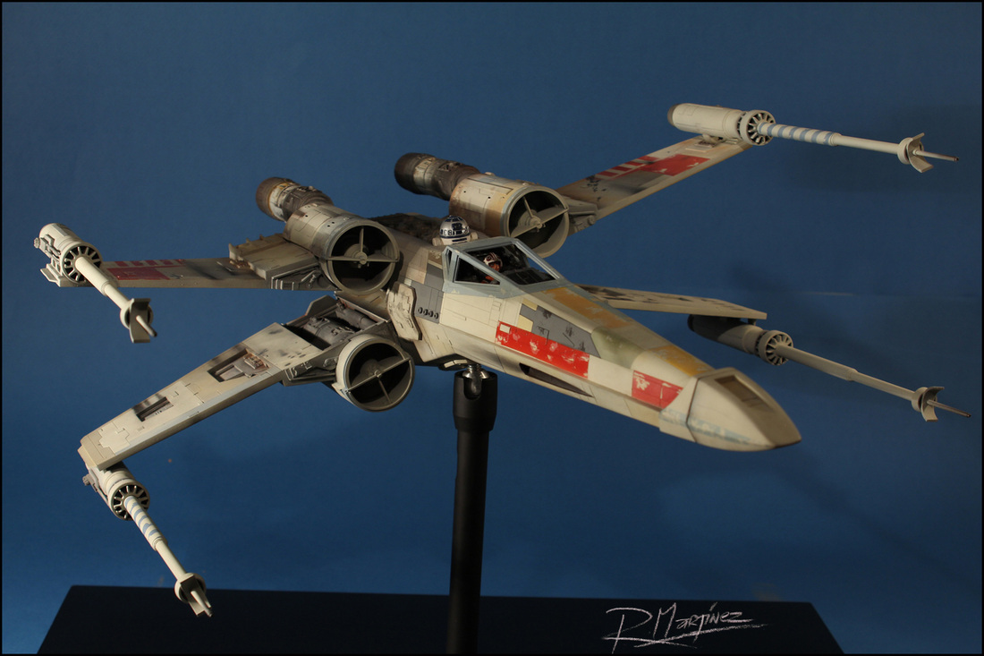 X-Wing Revisited - Finished model RED 5.