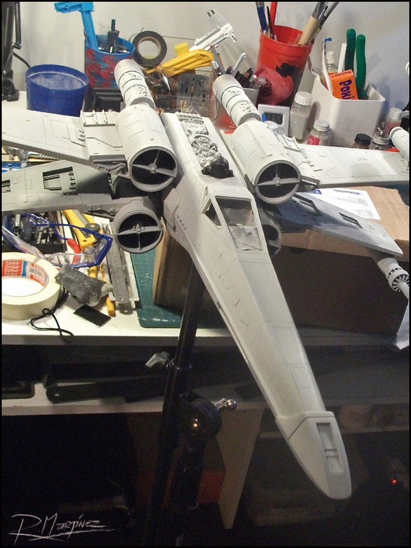 X-Wing: Base color applied.