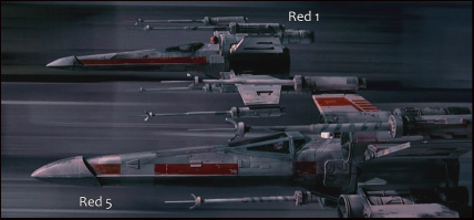 ILM Red 5 and Red 1 Filming Models, movie still.