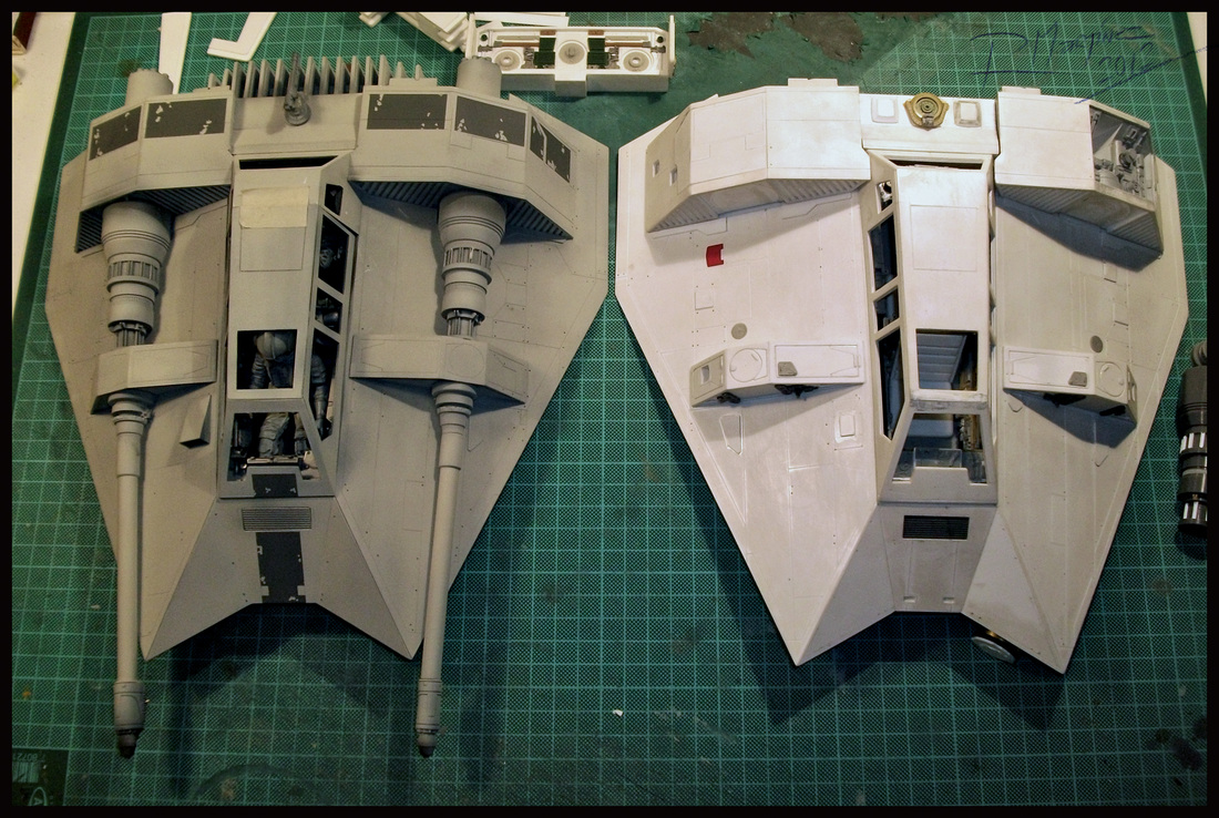 Prototype and Master Pattern Snowspeeder.