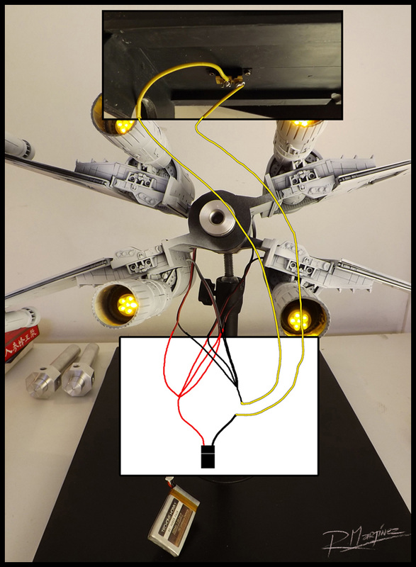 X-Wing full wiring circuit.