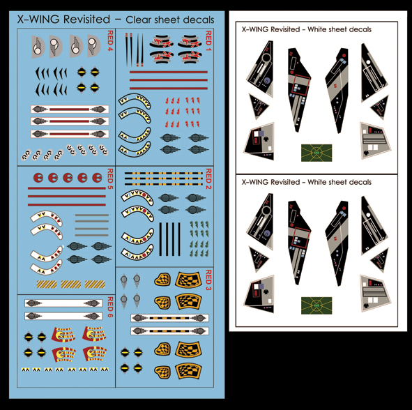 Helmet and Control Panel Decal Sets.
